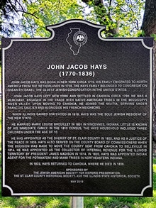 John Jacob Hays (1770-1836)-St. Clair County